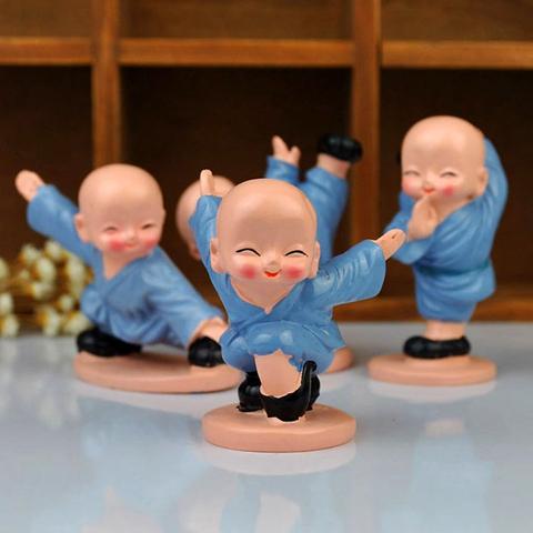 树脂娃娃四小和尚少林功夫小子